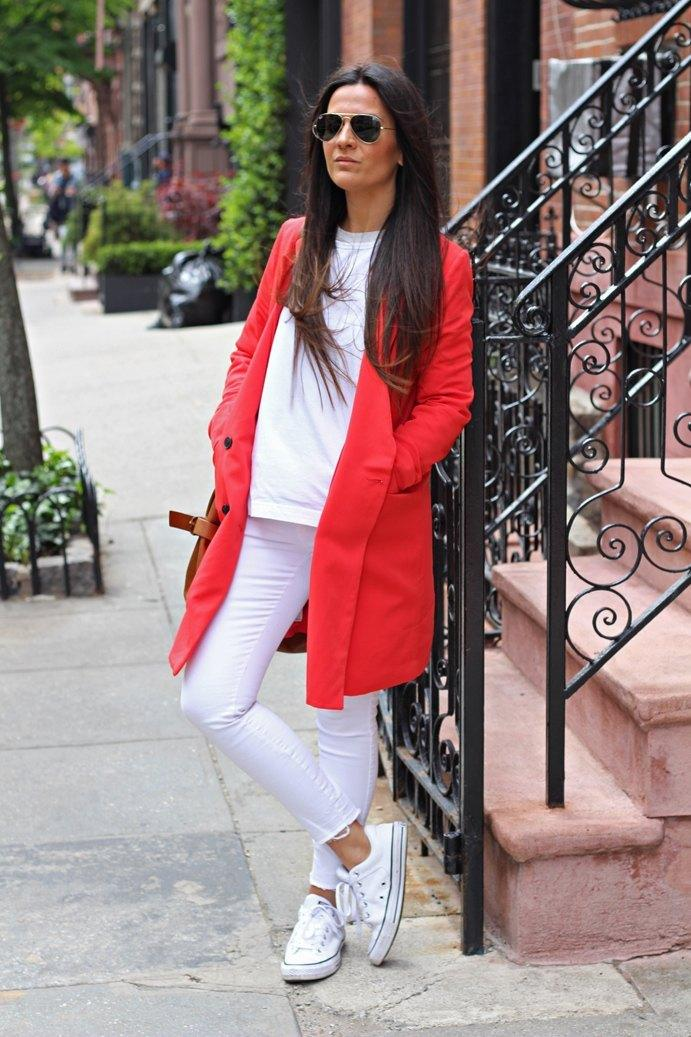 marikowskaya street style carmen blazer roja (1)