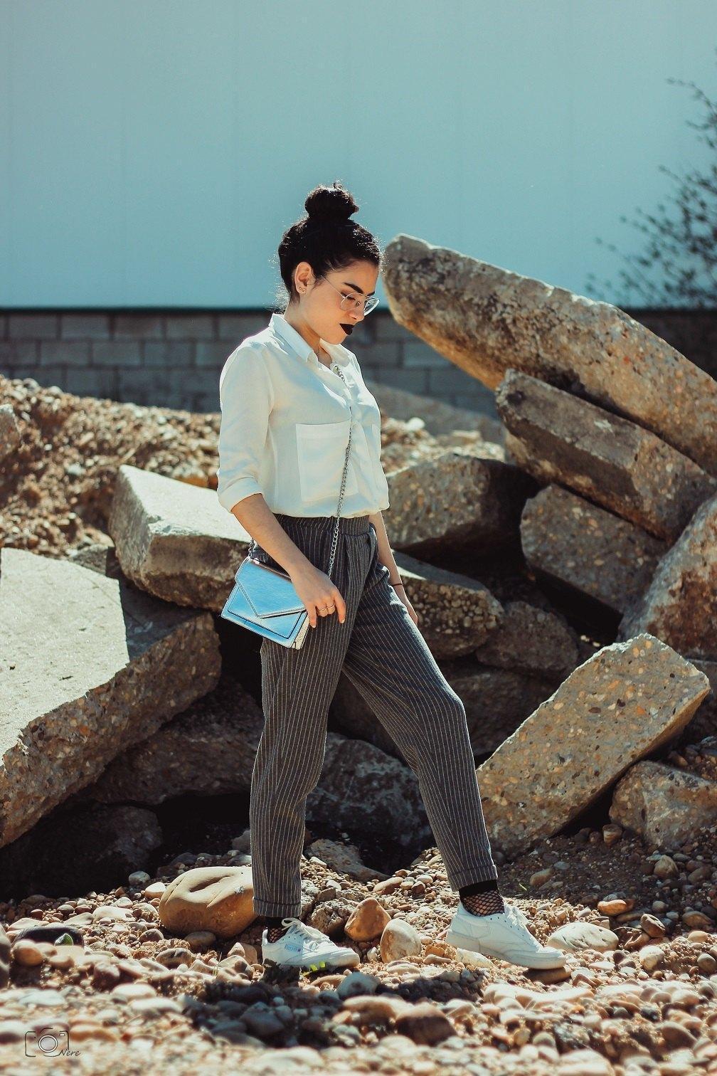marikowskaya street style lu pantalón raya diplomática (1)